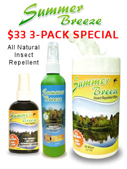 3-Pack of Summer Breeze Insect Repellent